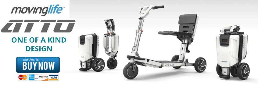 Moving Life ATTO Folding Scooter Available At Sherman Oaks Medical Click Here To Buy Now