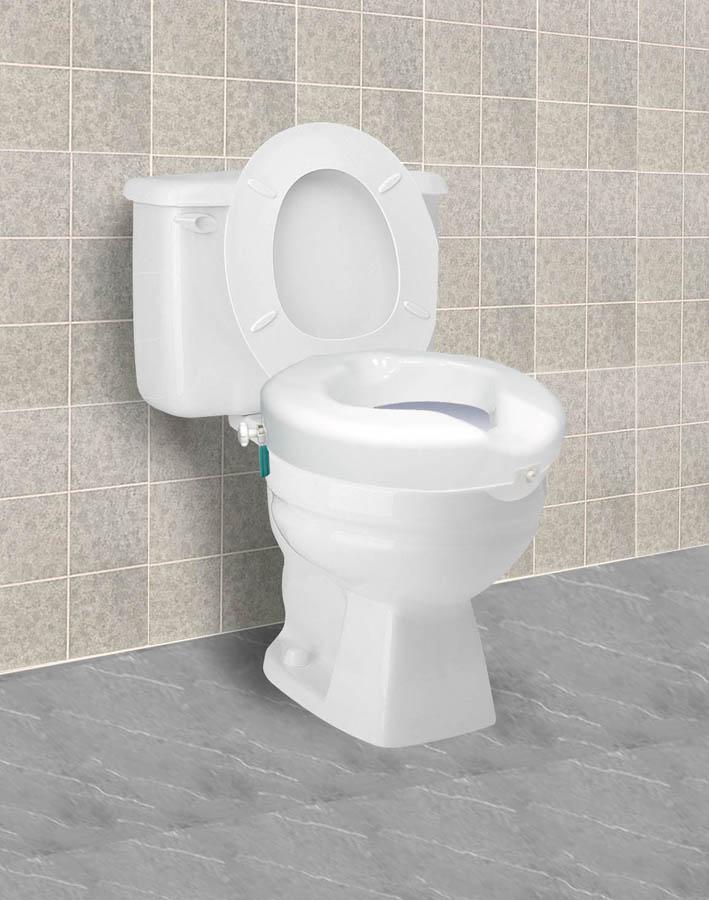 Carex B31300 Safe Lock Raised Toilet Seat
