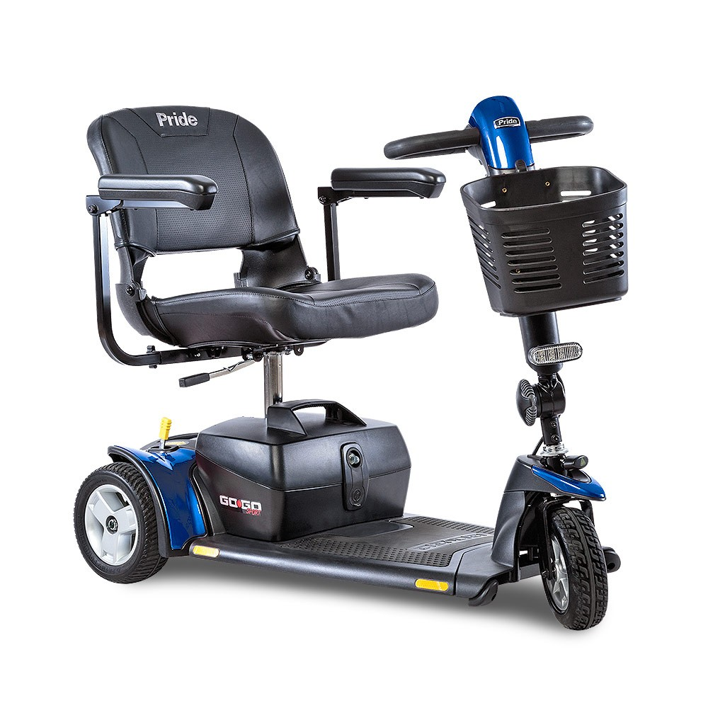 Blue 3-Wheel Travel Mobility Scooter Rental