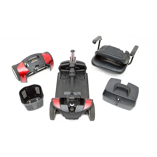 Disassembled parts of 4-Wheel Travel Mobility Scooter for Rental