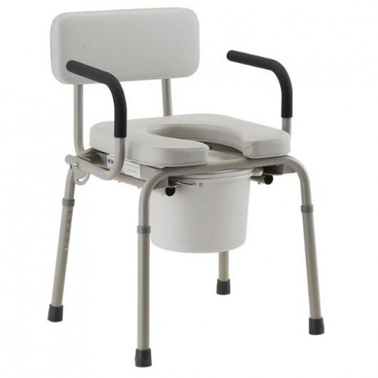 Nova Padded Drop-Arm Commode Chair