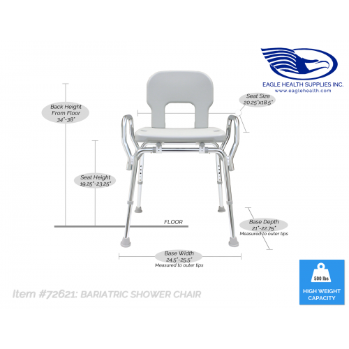 Specifications of Eagle Health Bariatric Shower Chair