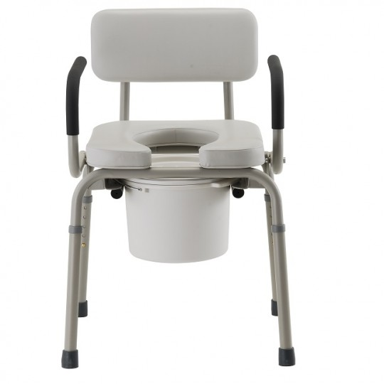 Front view of Nova Padded 8901 Drop-Arm Commode Chair