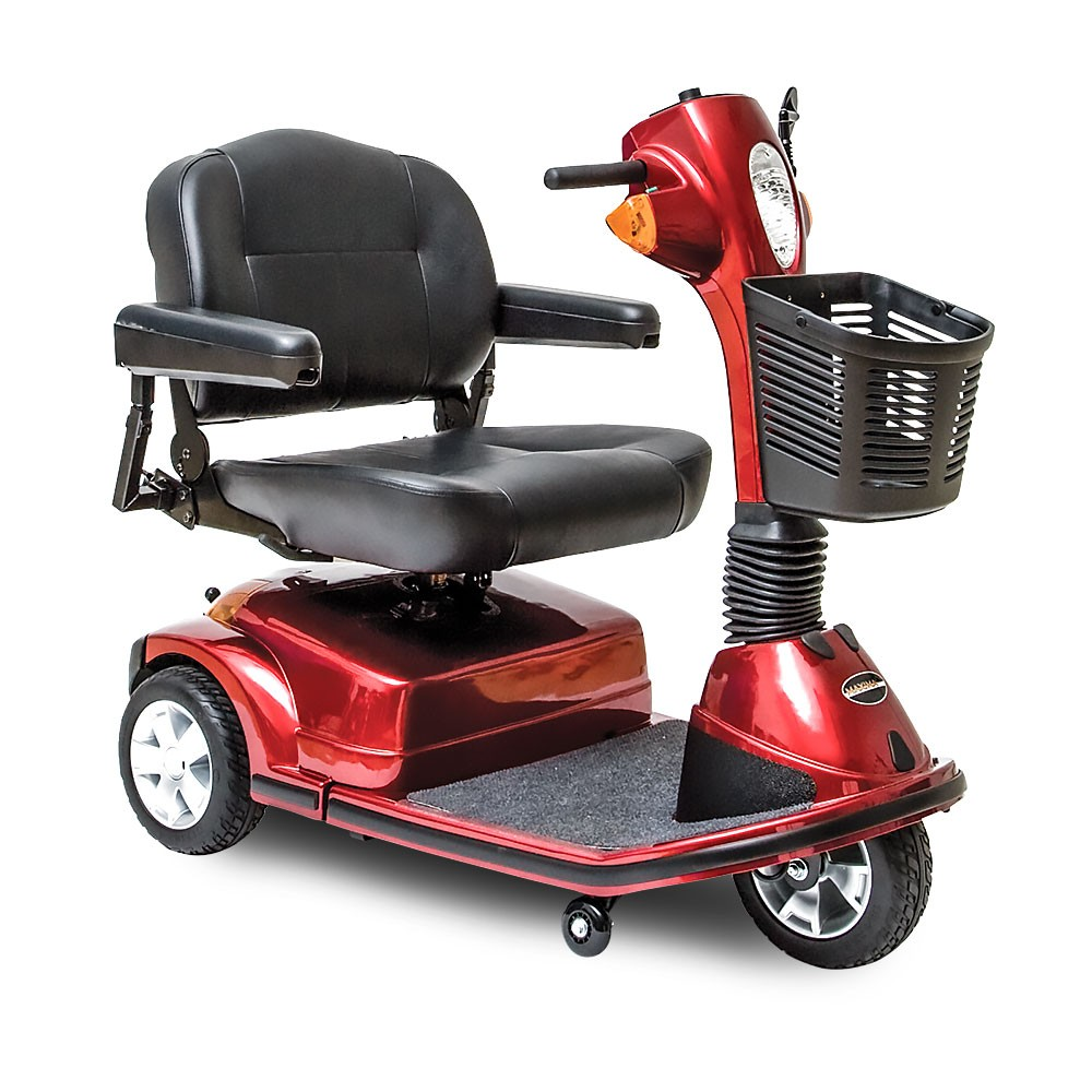 Red Heavy Duty/Bariatric Mobility Scooter with 3 wheels for Rental