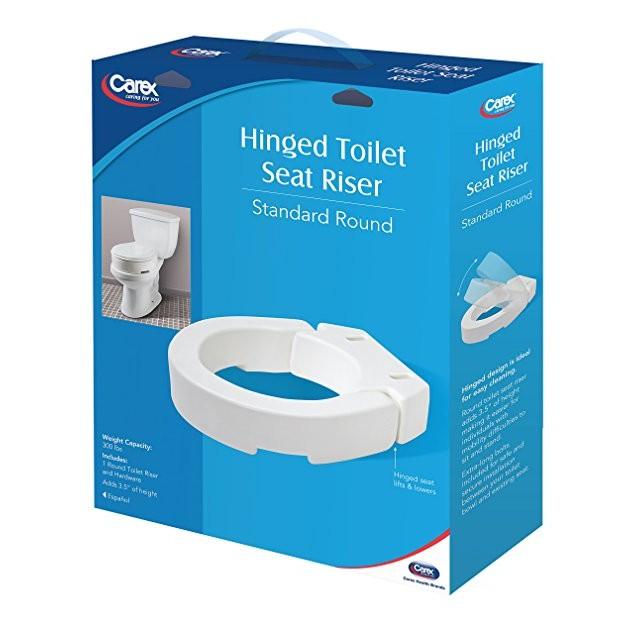 Carex Hinged Toilet Seat Riser Standard Round