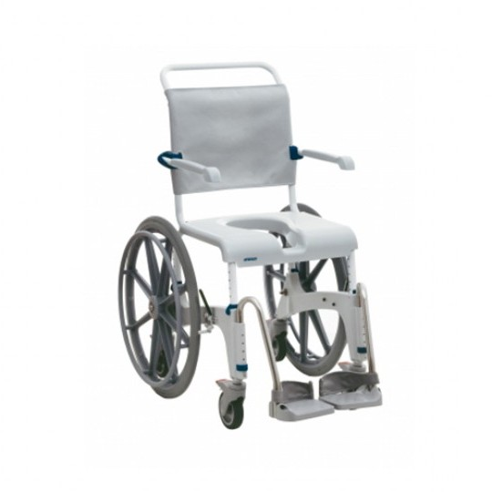 Front View of White Clarke Healthcare OceanSP Shower Chair