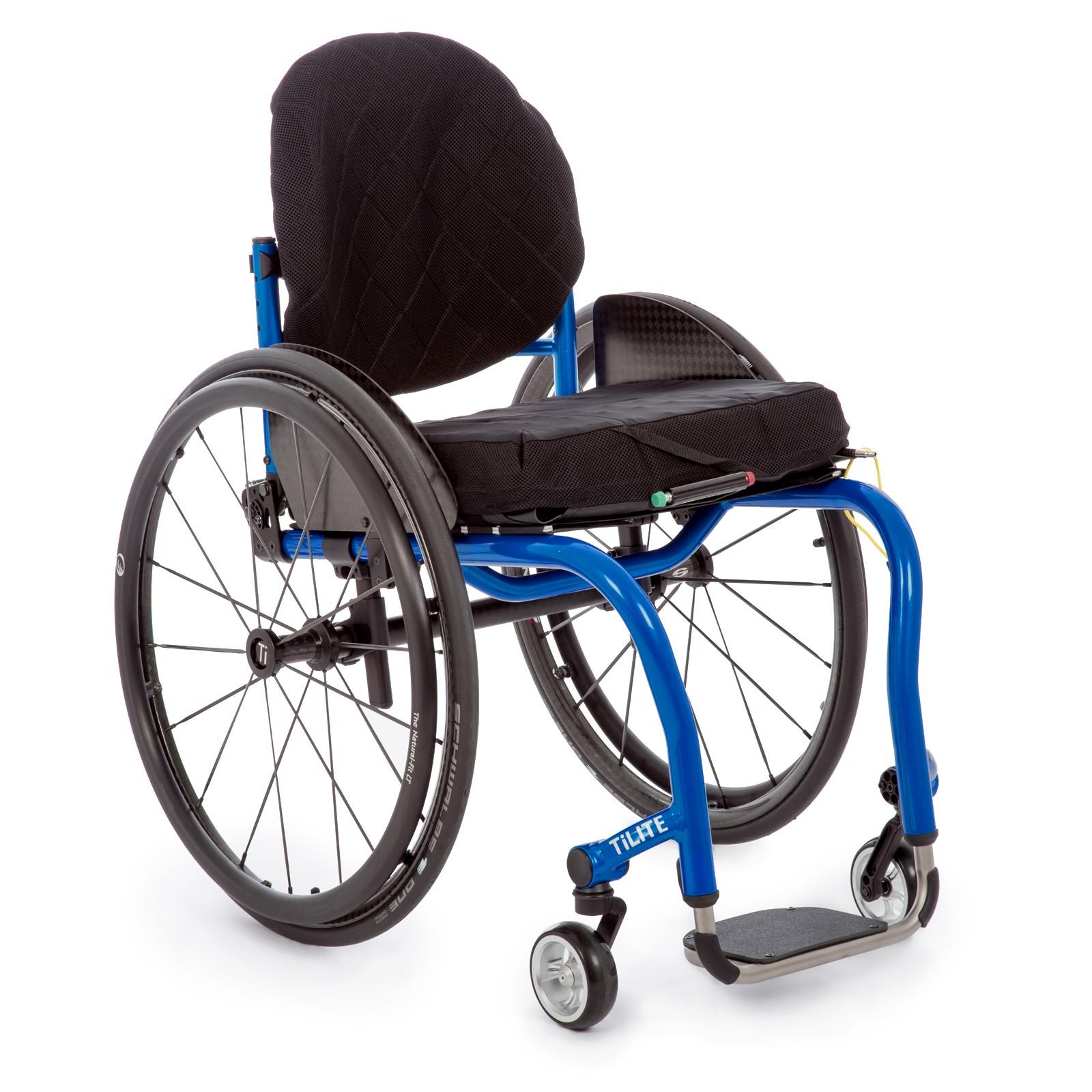 Blue Deluxe Folding & Rigid Ultra Light Wheelchair for Rental