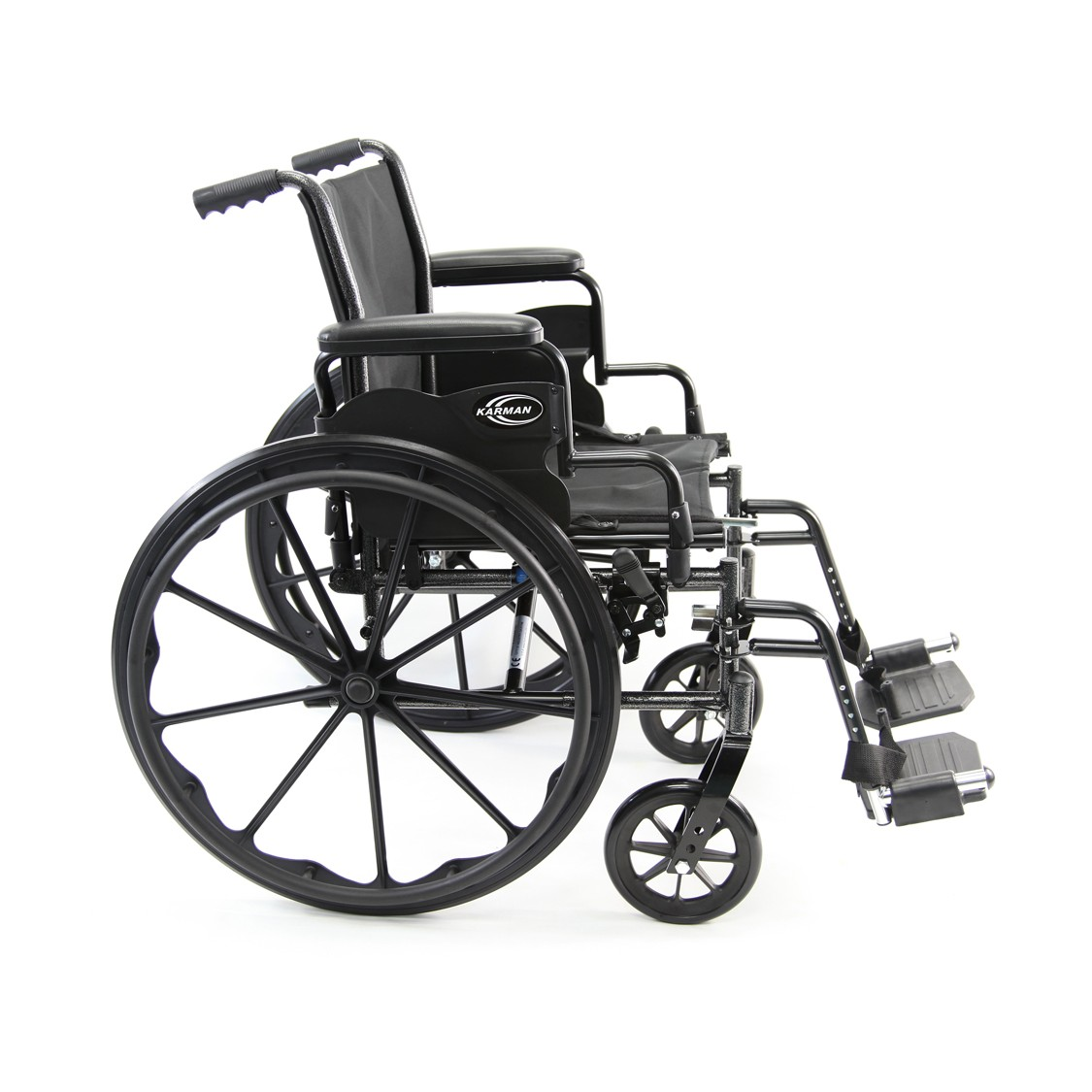 Karman LT-700T Lightweight Wheelchair with Desk Length Detachable Armrests