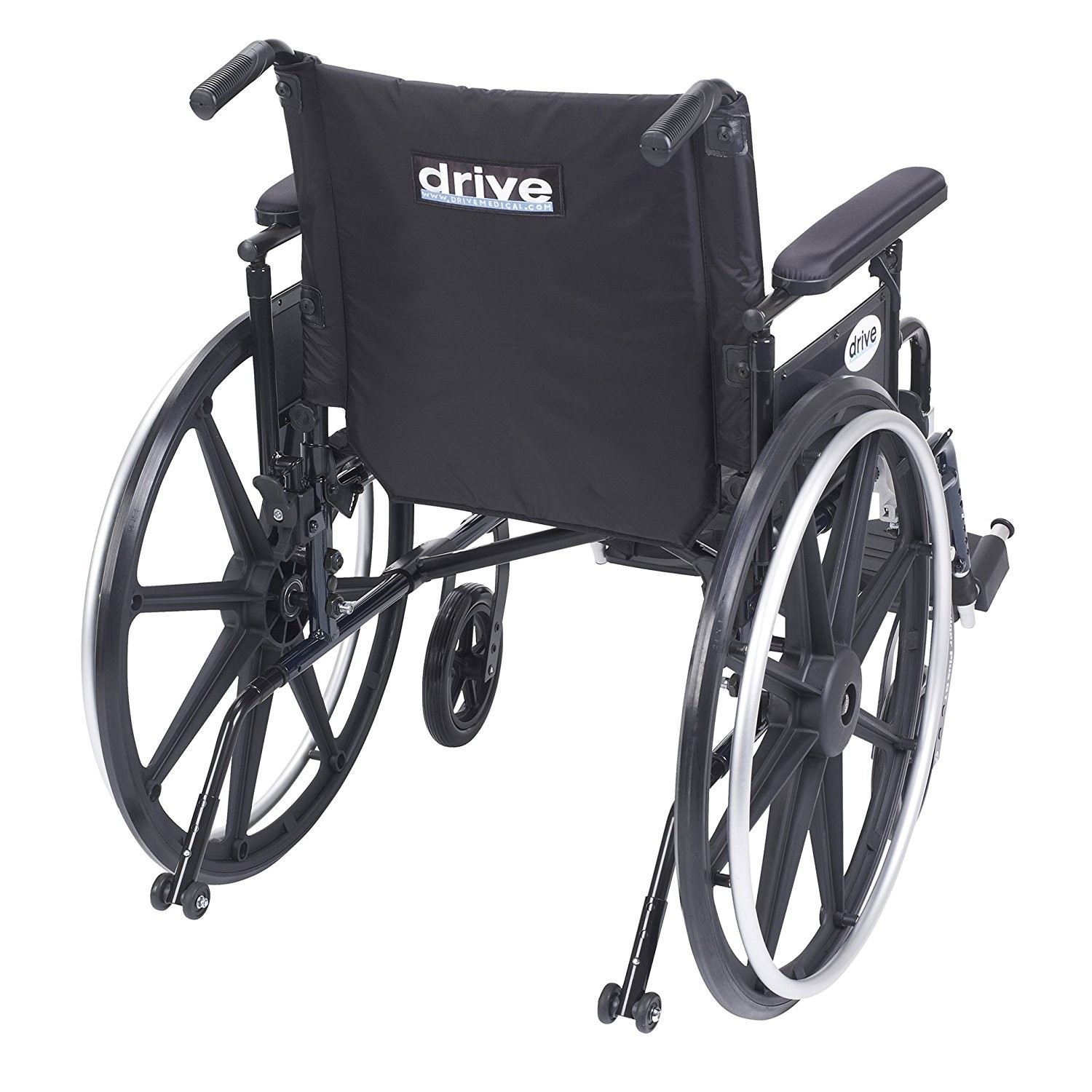 Back view of Drive Viper Wheelchair with Flip Back Removable Arms