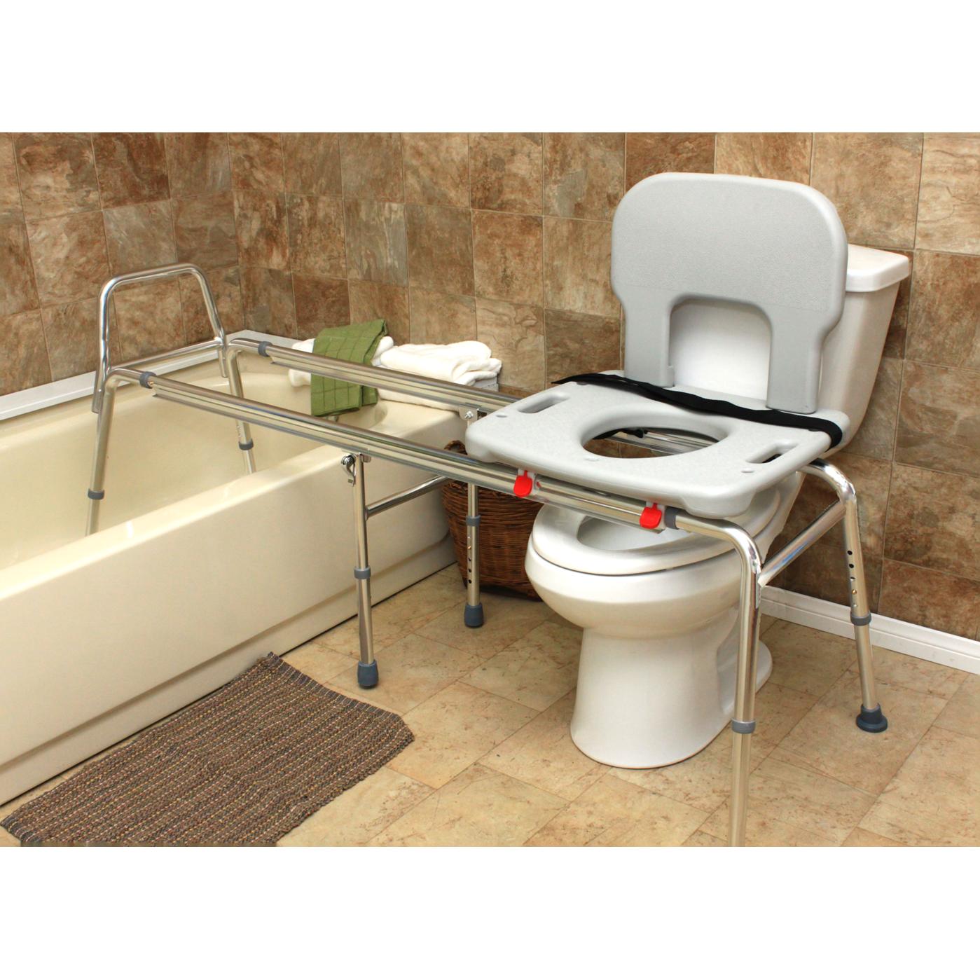Eagle Health Toilet-to-Tub Sliding Transfer Bench (XX Long)
