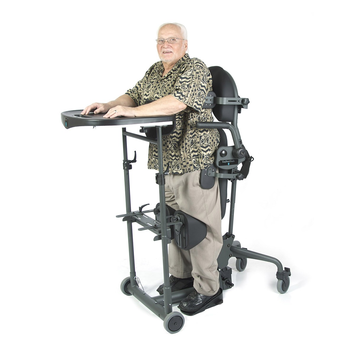 Man standing in a EasyStand Evolv Large
