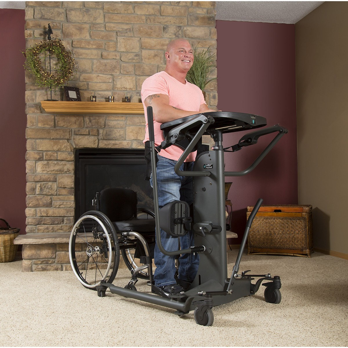 Man standing on an EasyStand StrapStand
