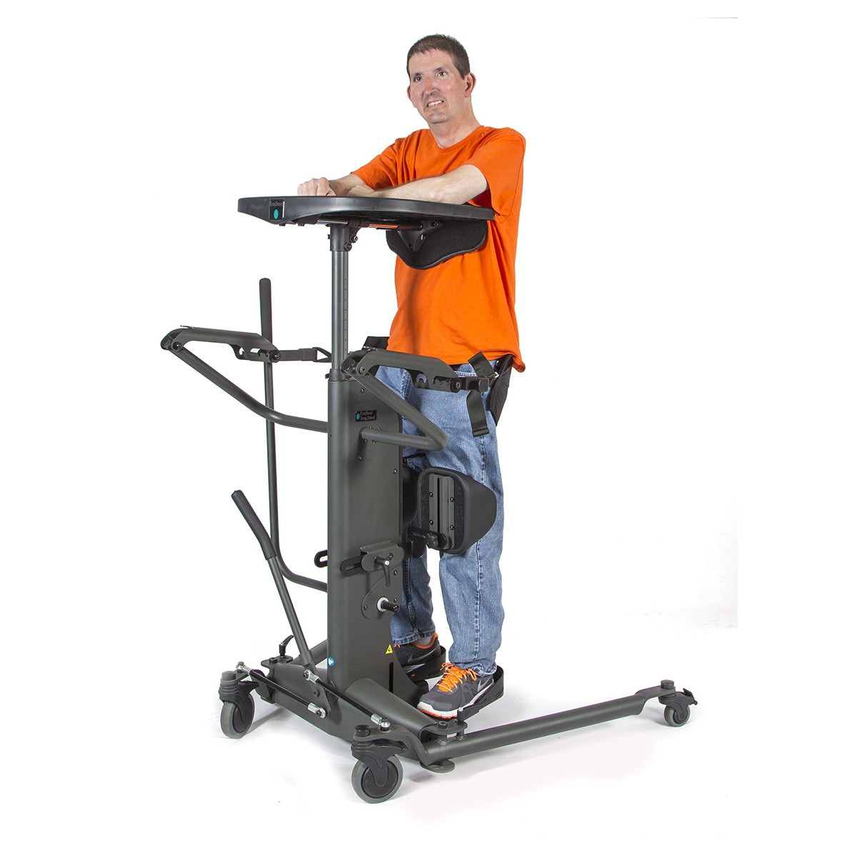 Man standing on a EasyStand StrapStand Classic