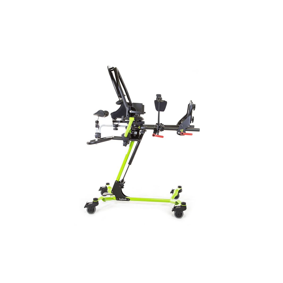 Side view of Green EasyStand Zing Supine Size 1