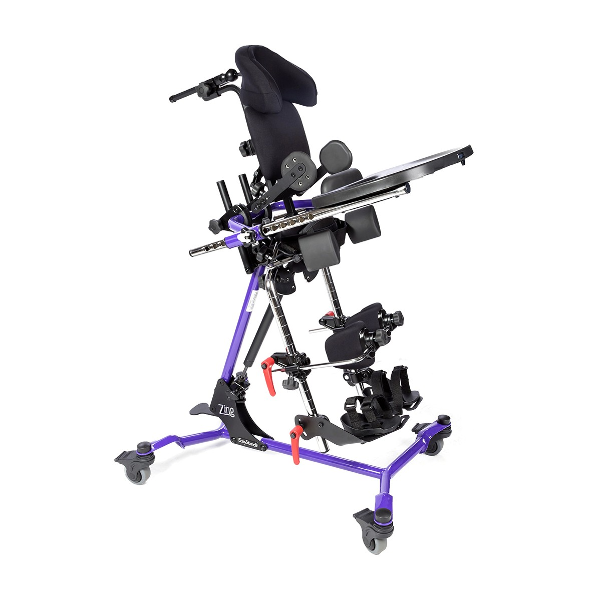 Side view of Purple EasyStand Zing Supine Size 1