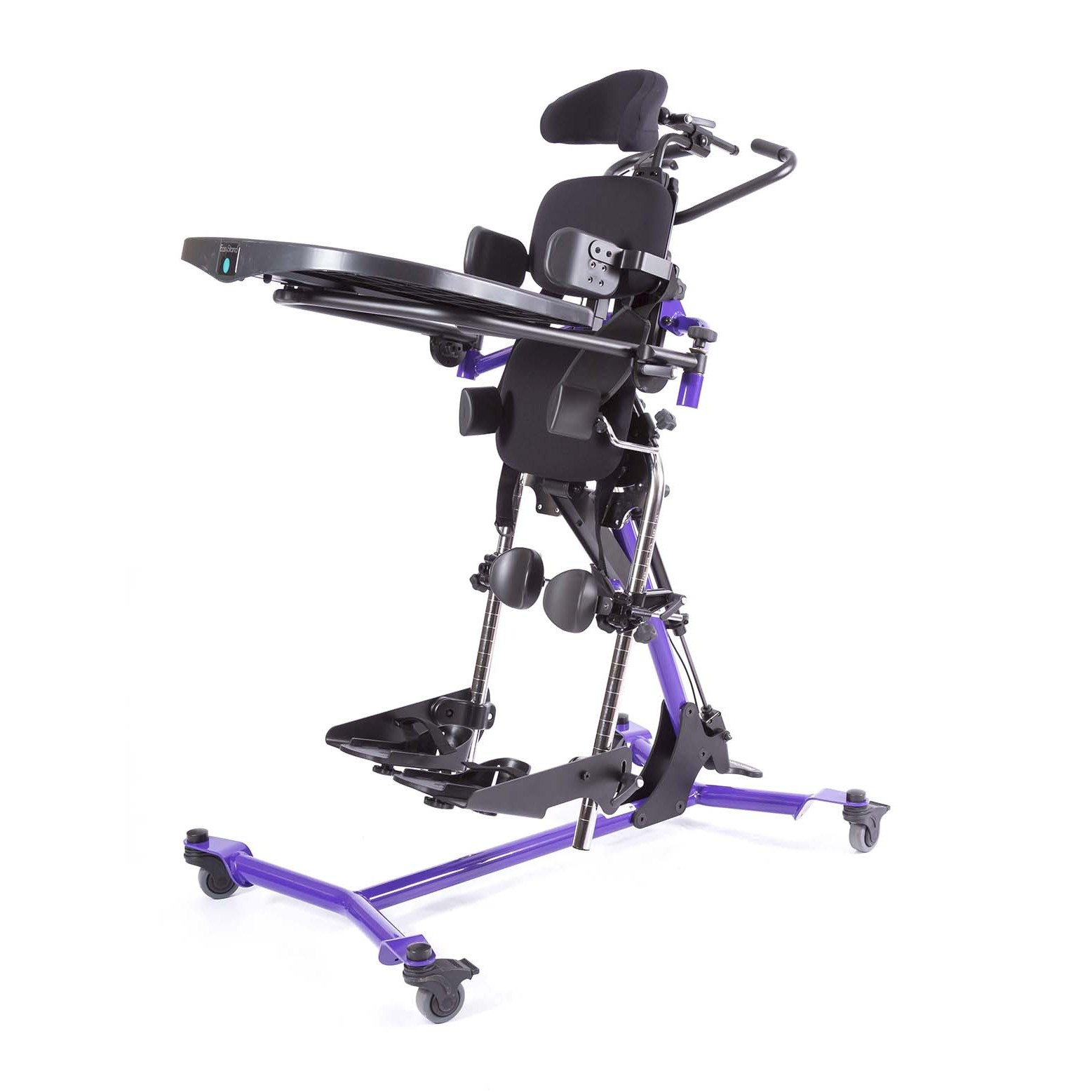 Side view of Purple EasyStand Zing Supine Size 2 Pow'r Up Lift