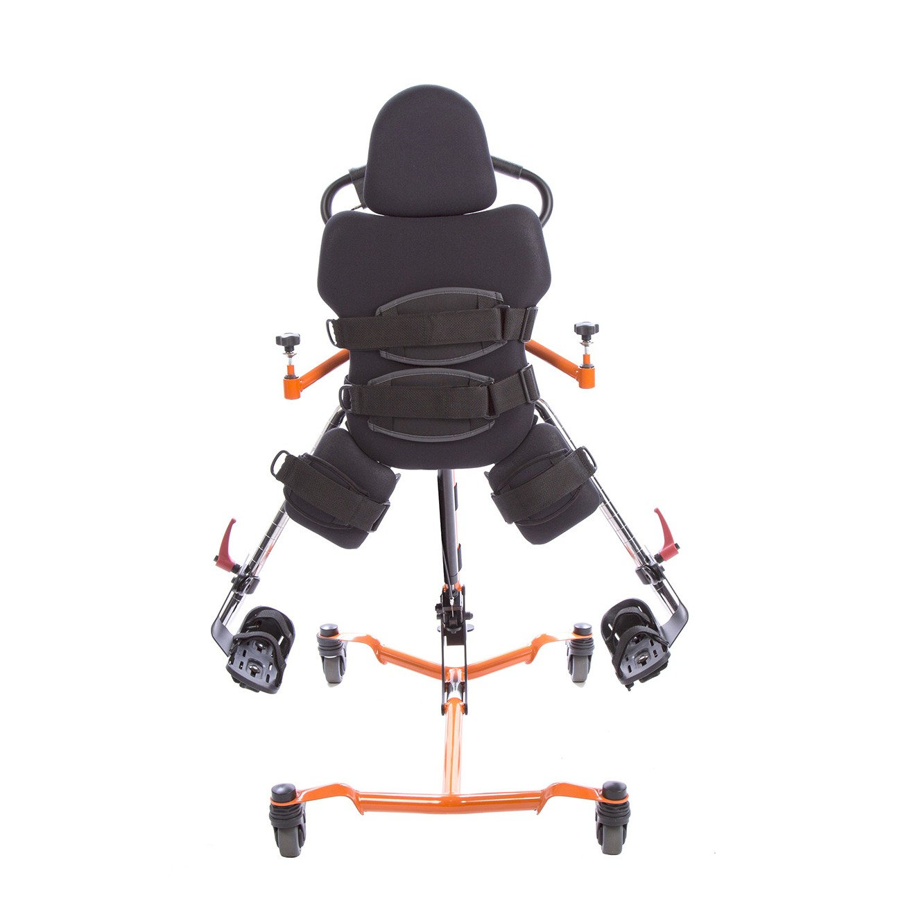 Back view of Orange EasyStand Zing Supine TT Size 1