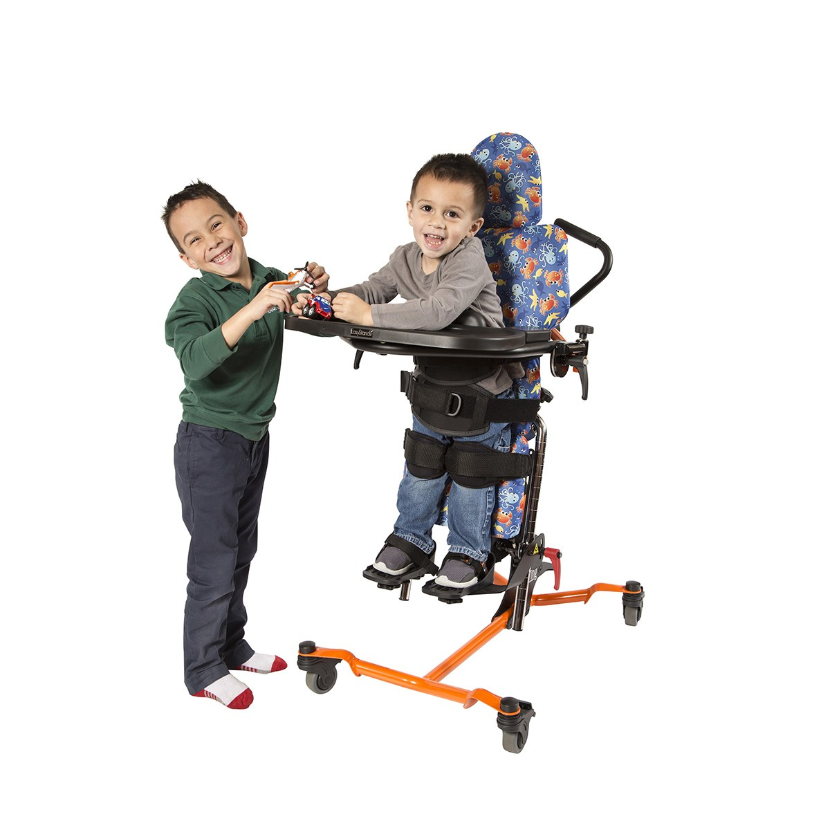 Child standing in a EasyStand Zing Supine TT Size 1