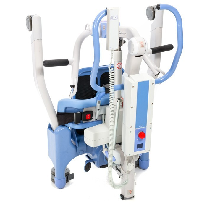 Blue Folded Electric / Power Standing Patient Lift Rental
