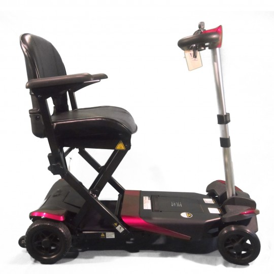 Side view of Enhance Mobility Solax Transformer Automatic Folding Scooter