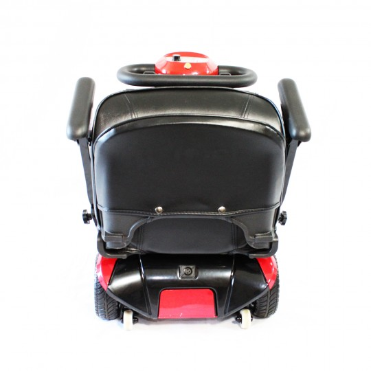 Back of seat of Enhance Mobility Solax Transformer Automatic Folding Scooter