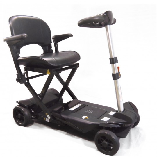 Black Enhance Mobility Solax Transformer Automatic Folding Scooter