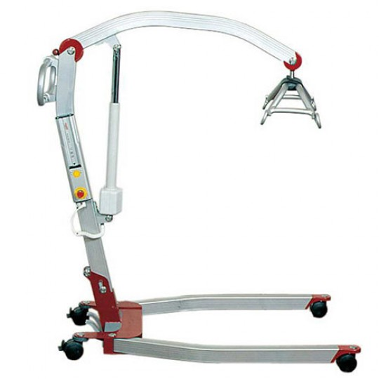 Side view of a Red Etac Molift Smart 150 Portable Electric Patient Lift