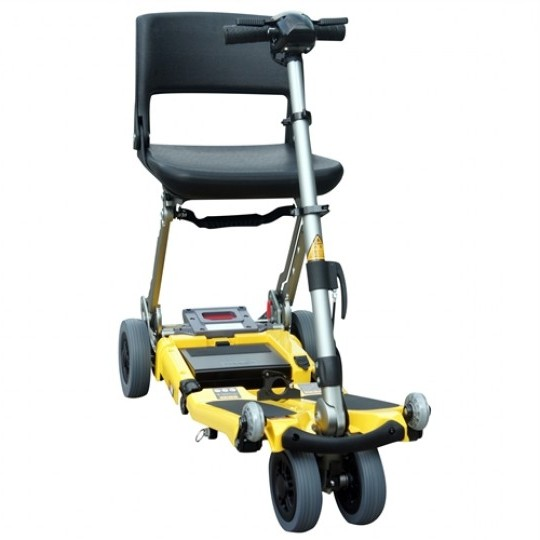 Yellow FreeRider Luggie Elite Folding Mobility Scooter