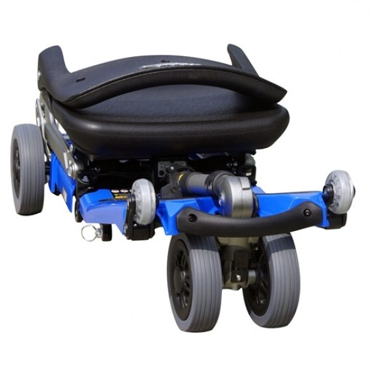 Folded Blue FreeRider Luggie Elite Folding Mobility Scooter