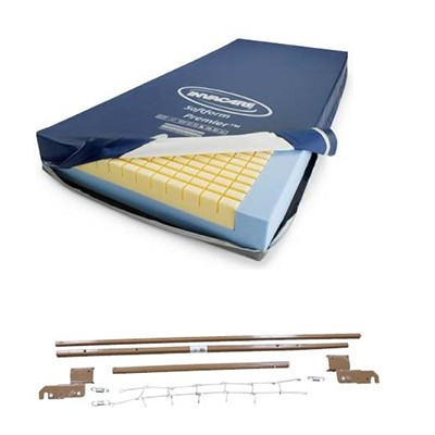 Bed Extension Kit and Invacare Soft Form Premier Mattress