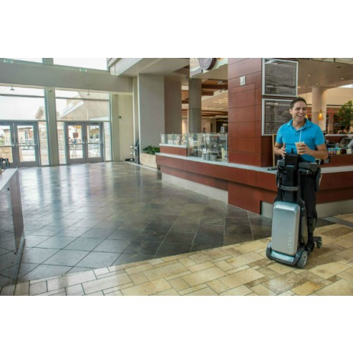 Woman standing on a Matia Robotics TEK RMD