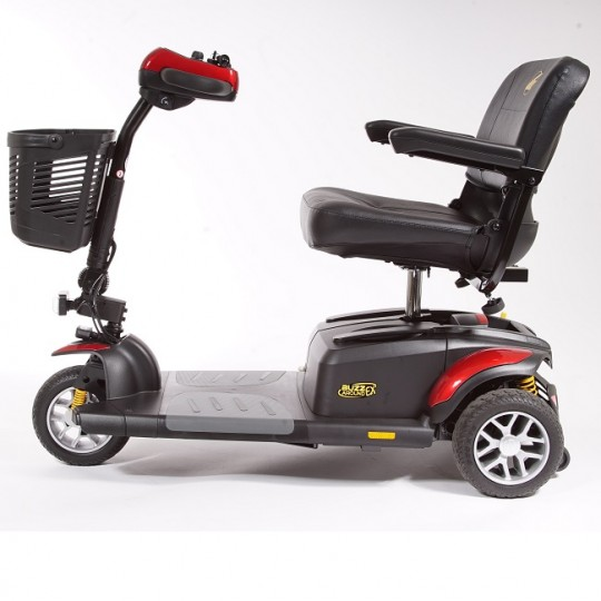 Side view of Golden Tech Buzzaround EX 3-Wheel Mobility Scooter