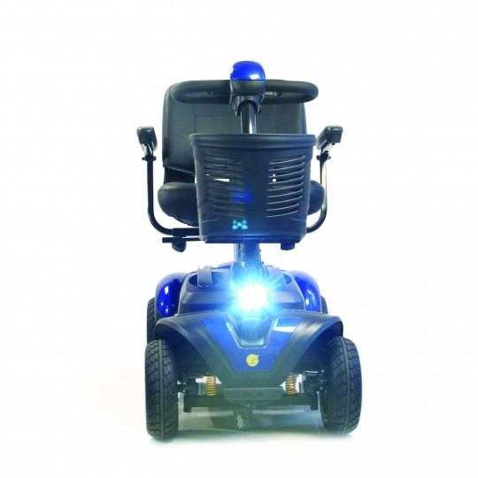 Front view of Golden Tech Buzzaround EX 4-Wheel Mobility Scooter