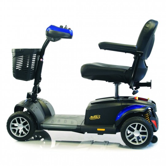 Side view of Golden Tech Buzzaround EX 4-Wheel Mobility Scooter