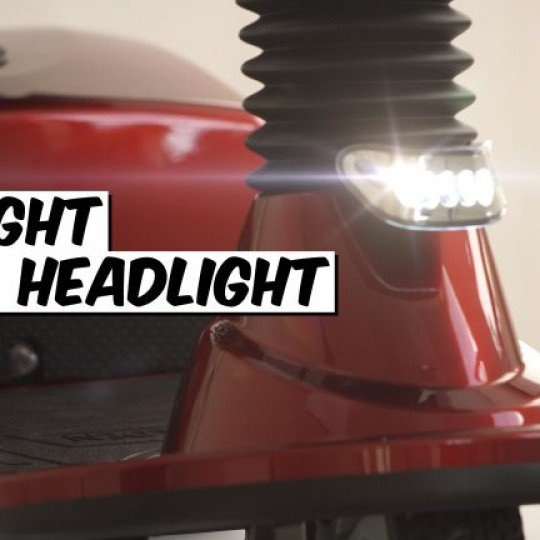 Headlights of Golden Tech Companion 3 Wheel Mobility Scooter