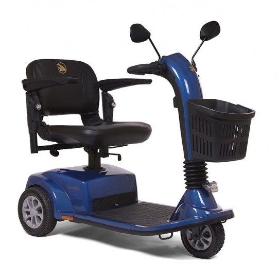 Blue Golden Tech Companion 3 Wheel Mobility Scooter