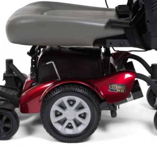 Side view of Golden Tech Compass HD GP620 Power Wheelchair Wheels