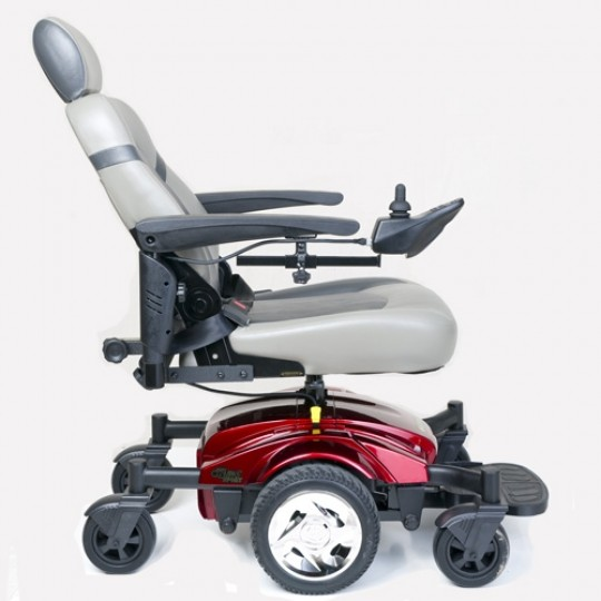 Elevated Side view of Golden Tech Compass Sport GP605M Power Wheelchair