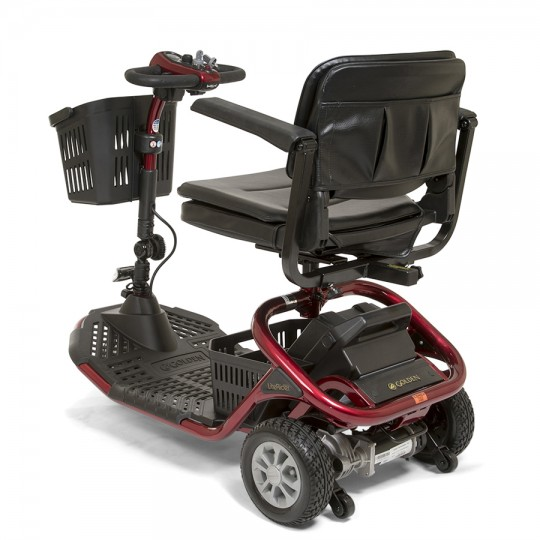 Back view of Red Golden Tech Literider 3-Wheel Mobility Scooter