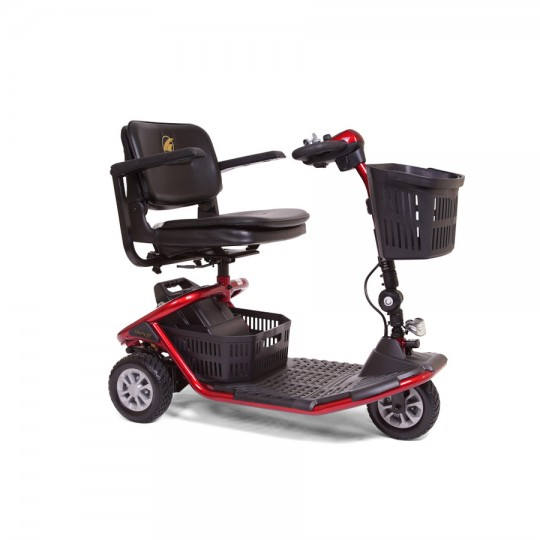 Front view of Red Golden Tech Literider 3-Wheel Mobility Scooter