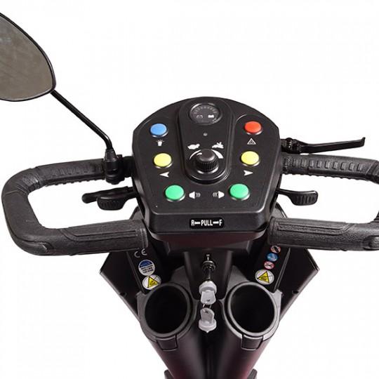 Tiller of Golden Tech Patriot 4 Wheel Mobility Scooter