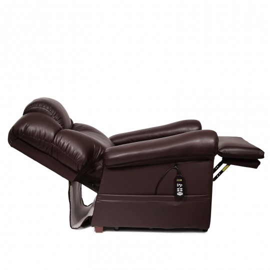 Side view of Extended Golden Tech Power Cloud Infinite Position Lift Chair
