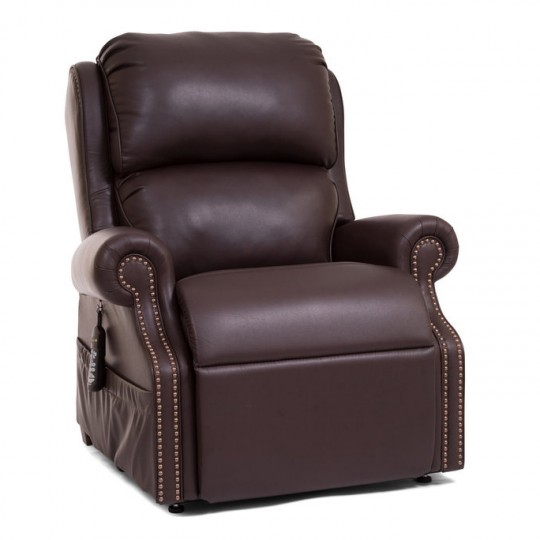 Dark Brown Golden Tech Pub Chair Infinite Position Lift Chair