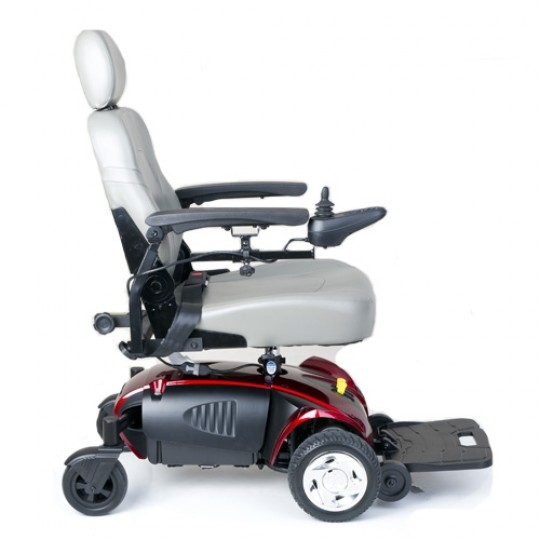 Side view of White Golden Technologies Alante Sport Power Wheelchair