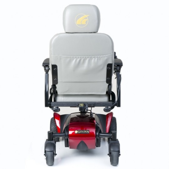 Back view of Grey Golden Technologies Alante Sport Power Wheelchair