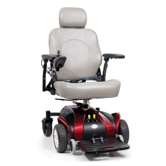 Front View of White Golden Technologies Alante Sport Power Wheelchair