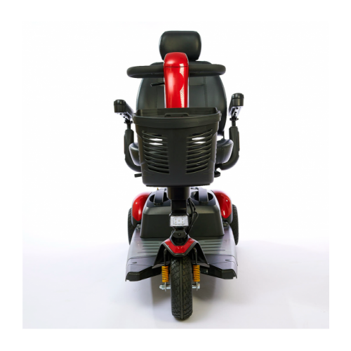 Front view of Red Golden Technologies Buzzaround Extreme LX Luxury 3 Wheel Scooter