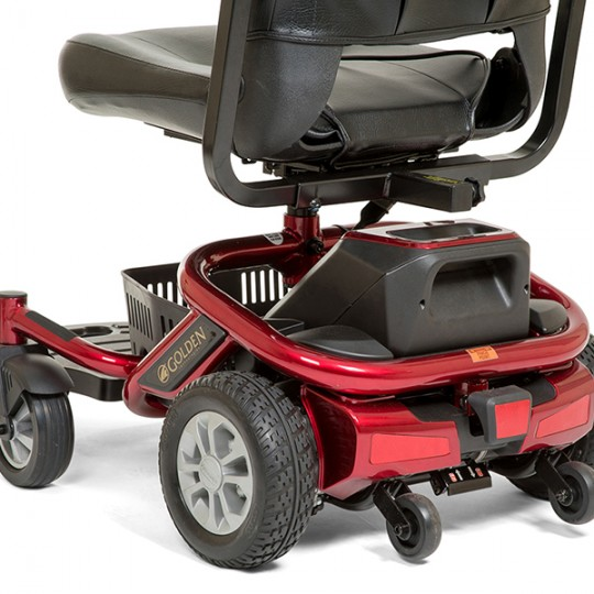 Back View of Red Golden Technologies LiteRider Envy PTC Travel Power Wheelchair