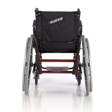 Back view of Red Quickie GP/GPV Rigid Manual Wheelchair