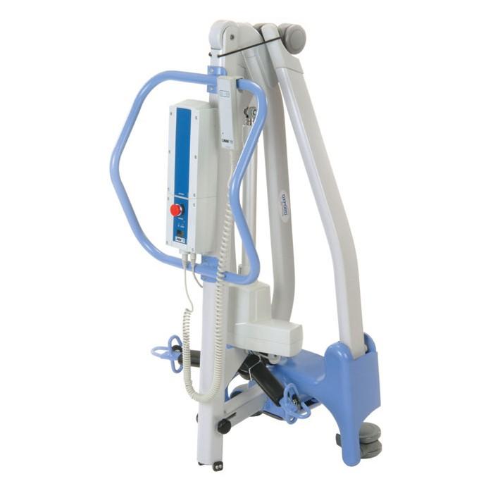 Blue Folded Hoyer Advance-E Electric Patient Lift